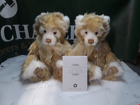 Lot 1257 LOT OF 2 CHARLE BEARS BEARS WITH PERSONALITIES WITH CERTIFICATE