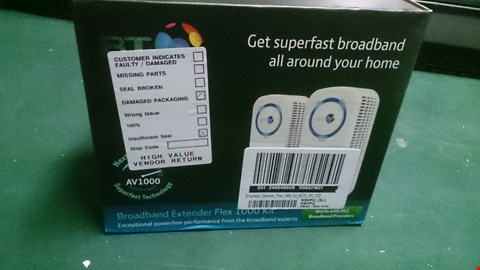 Lot 1526 BT BROADBAND EXTENDER FLEX 1000KIT RRP £119.99