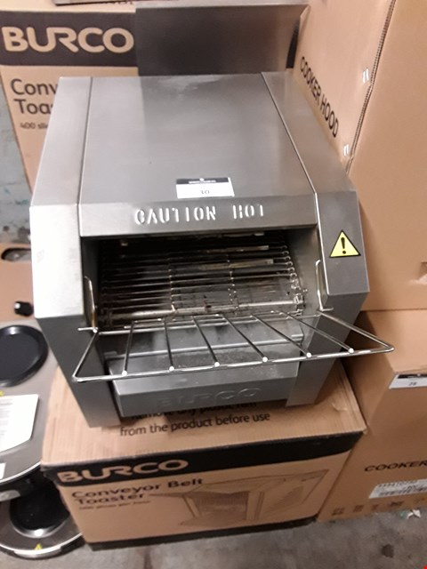 Lot 30 BURCO TSCNV01 CONVEYOR BELT TOASTER.
