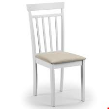 Lot 3523 BOXED PAIR COAST WHITE DINING CHAIRS (1 BOX)