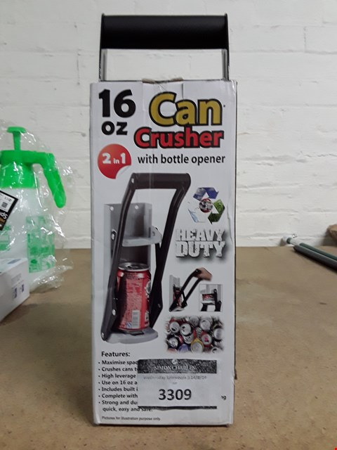 Lot 3309 BOXED 16OZ CAN CRUSHER AND BOTTLE OPENER
