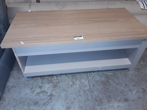 Lot 531 DESIBNER GREY & NATURAL WOOD EFFECT TV UNIT