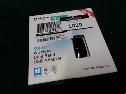 Lot 1039 TP LINK ARCHER T2U DUAL BAND USB ADAPTER RRP £39.99