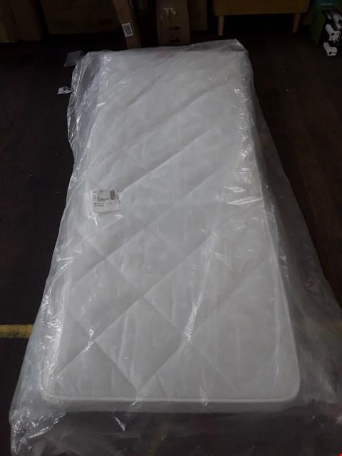 Lot 333 QUALITY BAGGED FOGARTY LITTLE SLEEP ANTI-ALLERGY OPEN COIL SINGLE MATTRESS