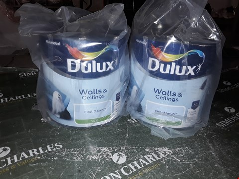 Lot 1012 2 X DELUX WALLS AND CEILING FIRST DAWN SILK PAINT 2.5L