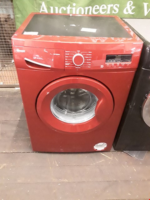 Lot 9001 SWAN SW15830R 8KG 1200 SPIN WASHING MACHINE IN RED