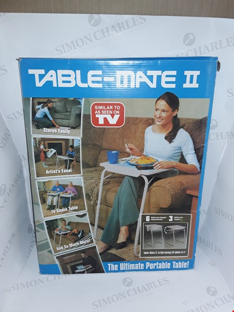 Lot 84 BOXED TABLE MATE 2 PORTABLE TABLE