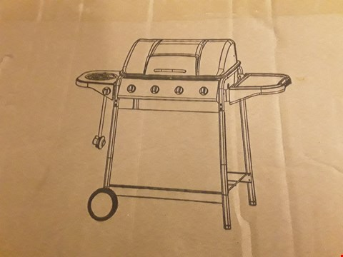 Lot 3447 4 BURNER PROMO GRILL WITH SIDE BURNER RRP £389.00