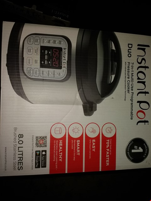 Lot 2233 INSTANT POT 7 IN 1 PRESSURE COOKER (CONDITION OF BOXES MAY VARY FROM PICTURED)