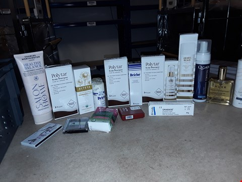 Lot 8049 A BOX OF APPROXIMATELY 20 ASSORTED COSMETICS TO INCLUDE,  POLYTAR SCALP SHAMPOO , JAMES READ COCONUT WATER TAN MIST AND GALINEE BODY MILK ETC