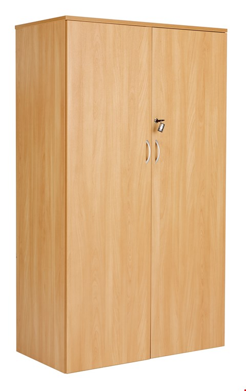 Lot 12056 BRAND NEW BOXED WORKMODE DOUBLE DOOR 160 CUPBOARD - BEECH(2 BOXES)