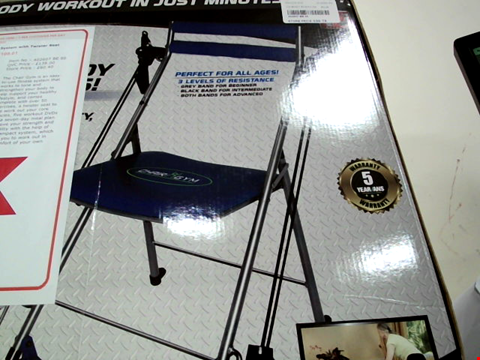Lot 518 CHAIR GYM TOTAL BODY EXERCISE SYSTEM WITH TWISTER SEAT - BLUE