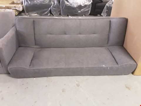 Lot 2051 DESIGNER GREY FABRIC CLICK-CLACK SOFA BED