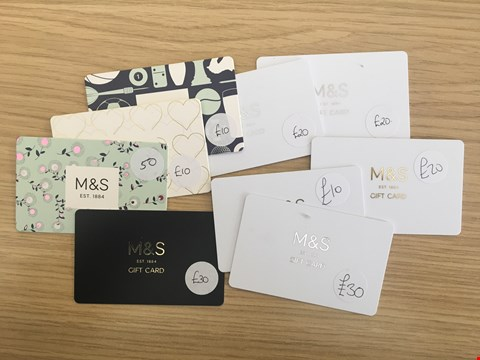 Lot 25 9 MARKS & SPENCER VOUCHERS.  TOTAL VALUE £200