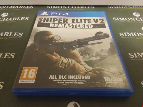 Lot 1060 SNIPER ELITE V2 REMASTERED PLAYSTATION 4 GAME