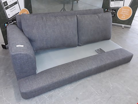 Lot 153 QUALITY BRITISH DESIGNER GREY FABRIC TWO SEATER SECTION
