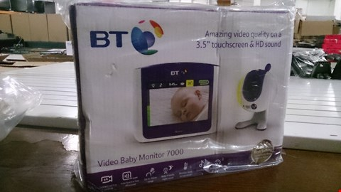 Lot 1408 BOXED BT VIDEO BABY MONITOR 7000 RRP £200.00