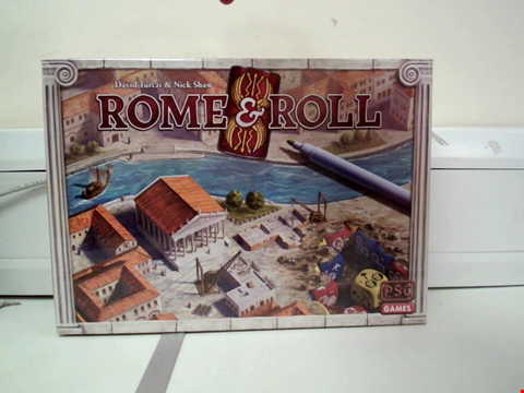 Lot 8015 ROME & ROLL BOARD GAME WITH EXPANSION BOARD AND EXTRA FIGURES