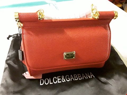 Lot 595 DOLCE AND GABBANA STYLE RED LADIES HANDBAG