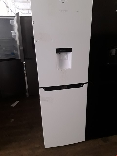 Lot 82 HISENSE WHITE FRIDGE FREEZER WITH WATER DISPENSER RB320D4WW1 RRP £249.00