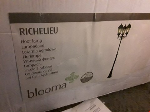 Lot 366 BOXED BLOOMA RICHELIEU FLOOR LAMP - POWDER COATED BLACK RRP £120