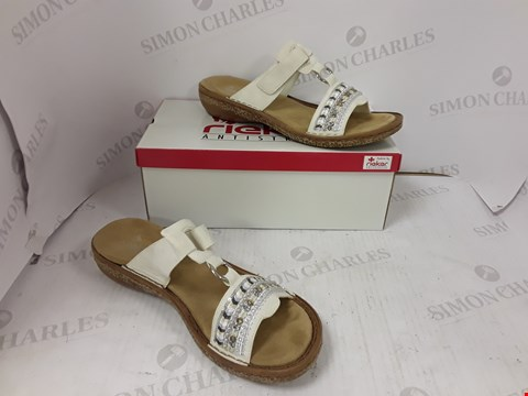 Lot 893 BOXED PAIR OF RIEKER SANDALS SIZE 41