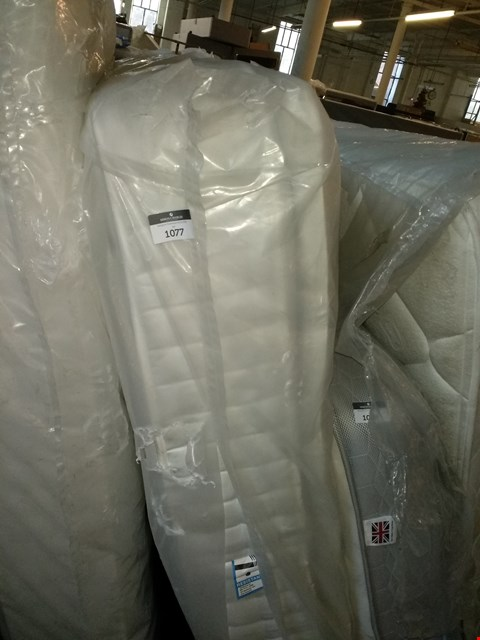 Lot 1077 QUALITY BAGGED 6FT POCKET SPRING MATTRESS