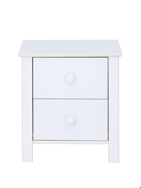 Lot 3077 BRAND NEW BOXED NOVARA WHITE BEDSIDE CHEST (1 BOX) RRP £99