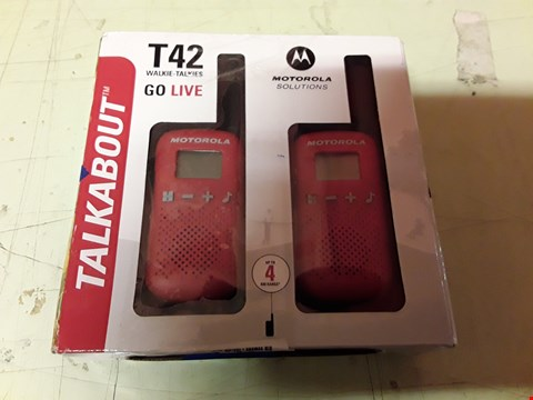 Lot 4165 MOTOROLA TALKABOUT T42 WALKIE TALKIES