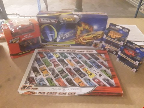 Lot 319 8 ASSORTED PRODUCTS TO INCLUDE; STREET MACHINES DIE CAST CARS, ADVENTURE WHEELS MICRO RACERS AND TEAMSTERZ FLAME CHASHER