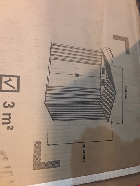 Lot 52 BOXED 3MSQ METAL GARDEN SHED