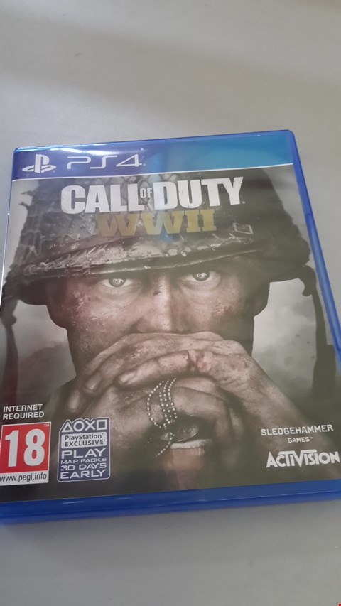 Lot 9062 CALL OF DUTY WWII FOR PLAYSTATION 4