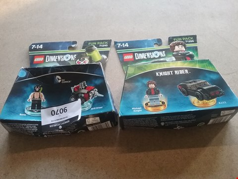 Lot 9070 1 BOXED LEGO DIMENSIONS FUN PACK BANE AND DRILL DRIVER AND 1 BOXED LEGO DIMENSIONS FUN PACK MICHAEL KNIGHT AND K.I.T.T.