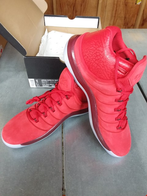 Lot 7085 NIKE AIR JORDAN SUPER FLY 2017 TRAINERS - RED SIZE 11