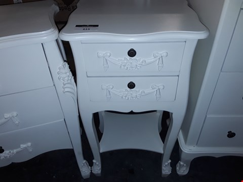 Lot 615 2 DRAWER FRENCH STYLE DRESSER - WHITE