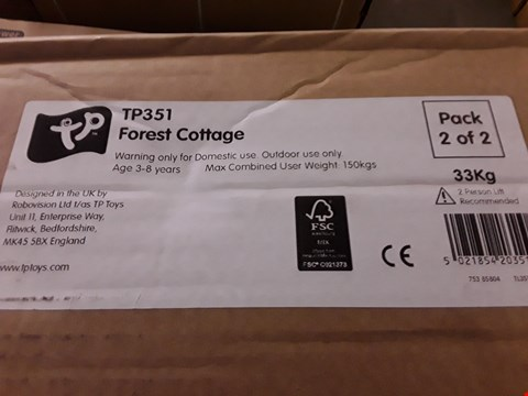 Lot 230 TP FOREST COTTAGE PLAY HOUSE (1 BOX) RRP £559.99