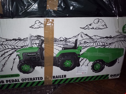 Lot 779 DOLU TRACTOR WITH TRAILER RRP £110