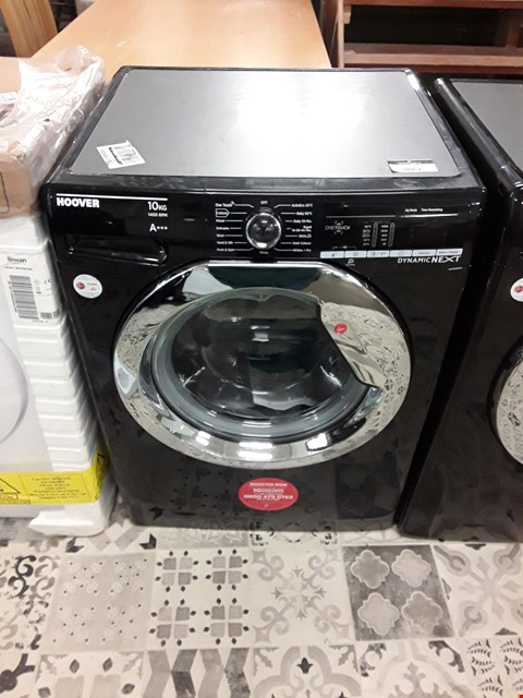 Lot 9062 HOOVER DYNAMIC NEXT 10KG 1400 SPIN WASHING MACHINE IN BLACK WITH ONE TOUCH - DXOA410C3B