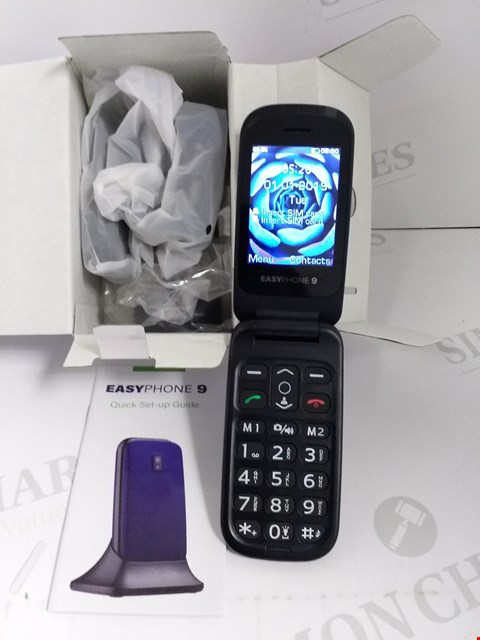 Lot 18314 EASYPHONE 9 MOBILE PHONE IN BLUE