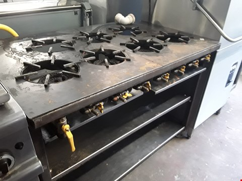 Lot 13542 COMMERCIAL 7 RING INDIAN WOK COOKER