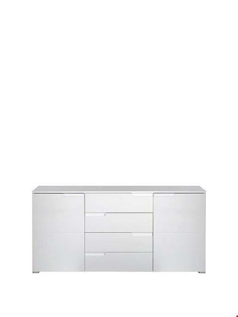 Lot 7088 BOXED GRADE 1 SLEEK WHITE GLOSS LARGE SIDEBOARD - 2 BOXES