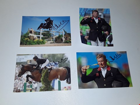 Lot 34 4 SIGNED PHOTOGRAPHS OF NICK SKELTON BRITISH EQUESTRIAN