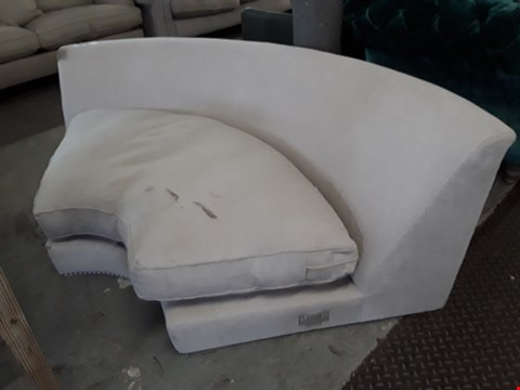 Lot 130 KEATON NATURAL FABRIC CURVED CORNER SECTION