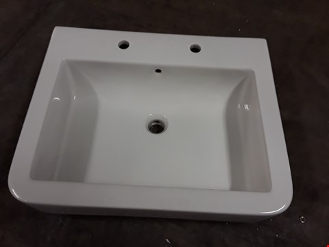 Lot 307 BOXED WATERMARK 600 2-TAP WHITE CERAMIC BASIN