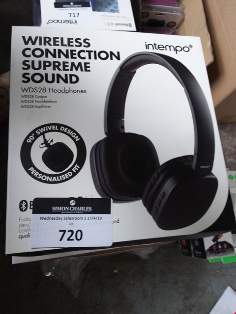 Lot 720 LOT OF 5 X BOXED INTEMPO WDS28 WIRELESS HEADPHONES