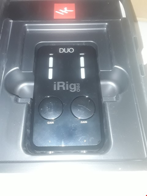 Lot 147 IRIG PRO DUO MOBILE AUDIO/MIDI INTERFACE