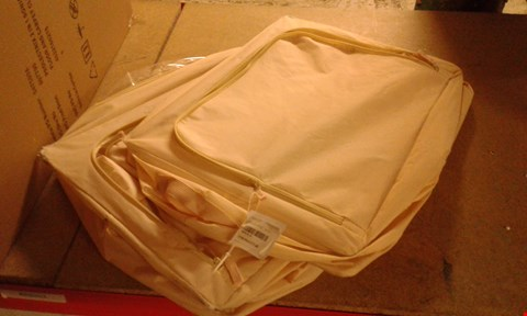 Lot 180 SET OF TWO FOLDABLE STORAGE CASES TAN