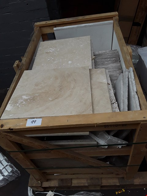 Lot 99 PALLET OF ASSORTED STONE SLABS IN VARIOUS SIZES