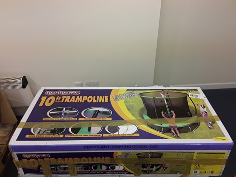 Lot 45 BOXED SPORTSPOWER 10 FT TRAMPOLINE