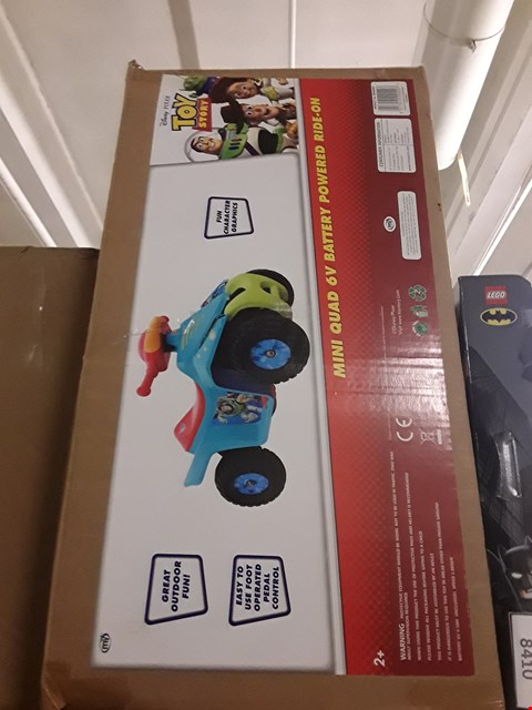 Lot 8411 TOY STORY 6V BATTERY OPERATED MINI QUAD RIDE-ON TOY RRP £110.00